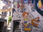 布鲁塞尔大街上的漫画墙