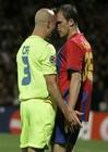 与对方球员发生冲突