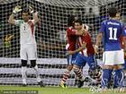 意大利1-1巴拉圭 巴拉圭庆祝进球