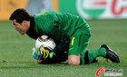 巴西2-1朝鲜 塞萨尔稳接皮球