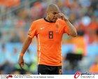 图文:荷兰VS丹麦 德容拧鼻子