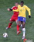 图文:巴西2-1朝鲜 胡安中流砥柱