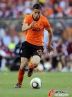 图文:荷兰2-0丹麦 阿费莱盘带