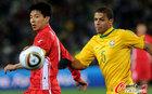 图文:巴西2-1朝鲜 梅洛意识超前