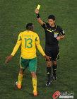 南非0-3乌拉圭 迪加戈尔吃到黄牌