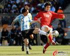 图文:阿根廷VS韩国 寄诚庸对决梅西