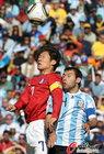 阿根廷VS韩国 朴智星很努力