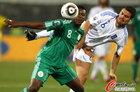 图文:希腊2-1尼日利亚 雅库布飞顶