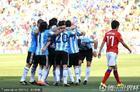 阿根廷VS韩国 阿根廷此刻很团结