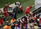 德国VS塞尔维亚 约万诺维奇疯狂庆祝
