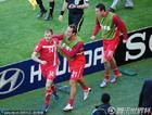 德国VS塞尔维亚 约万诺维奇庆祝进球