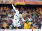 图文:加纳1-1澳大利亚 阿贝耶飞顶