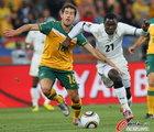 图文:加纳1-1澳大利亚 阿萨莫阿强突