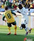 图文:加纳1-1澳大利亚 维克谢尔防守凶狠