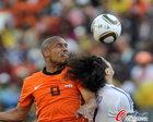 图文:荷兰1-0日本 德容飞顶
