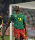 图文:喀麦隆1-2丹麦 韦伯仰天长叹