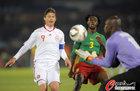 图文:丹麦VS喀麦隆 托马森没有机会