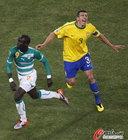 图文:巴西3-1科特迪瓦 卢西奥痛苦
