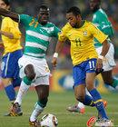 图文:巴西VS科特迪瓦 罗比尼奥十分高效