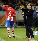 图文:意大利1-1巴拉圭 博内特与教练