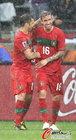 图文:葡萄牙VS朝鲜 梅雷莱斯庆祝