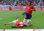 图文:智利VS瑞士 博塞豪尔遭飞铲