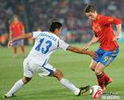 图文:西班牙2-0洪都拉斯 埃斯皮诺萨防守