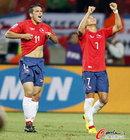 图文:智利1-0瑞士 冈萨雷斯桑切斯庆祝