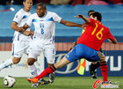 图文:西班牙2-0洪都拉斯 帕拉西奥斯突破