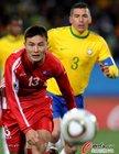 图文:巴西2-1朝鲜 朴哲镇领先一步