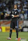 图文:希腊0-2阿根廷 罗梅罗兴奋呐喊