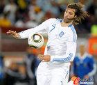 图文:希腊VS阿根廷 萨马拉斯高中停球