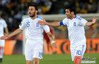 图文:希腊0-2阿根廷 卡拉古尼斯无奈
