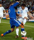 图文:希腊VS阿根廷 卡拉古尼斯无法突破