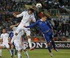 图文:希腊VS阿根廷 萨马拉斯争顶
