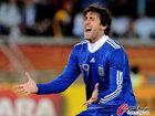 图文:希腊0-2阿根廷 米利托十分兴奋