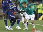 图文:法国VS墨西哥 萨尔西多对决萨尼亚