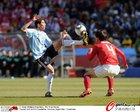 图文:阿根廷VS韩国 迪马利亚挑球