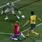 图文:澳大利亚VS塞尔维亚 比彻姆射门