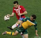 图文:澳大利亚VS塞尔维亚 卢科维奇停球