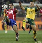 图文:澳大利亚VS塞尔维亚 斯坦科维奇脚尖