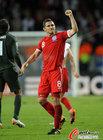 图文:斯洛文尼亚0-1英格兰 兰帕德很激动