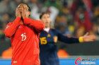 图文:智利1-2西班牙 博塞豪尔捂脸