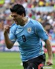 乌拉圭VS韩国 苏亚雷斯怒吼