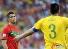 图文:葡萄牙0-0巴西 C罗特写