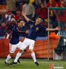 图文:智利1-2西班牙 比利亚哈维庆祝