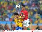 图文:葡萄牙0-0巴西 科斯塔爆顶