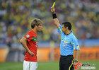 图文:葡萄牙0-0巴西  科恩特劳吃黄牌