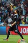 图文:阿根廷3-1墨西哥 兴奋的罗梅罗