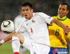 图文:巴西3-0智利 伊斯拉停球